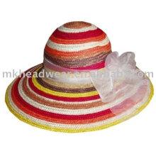 Fashion straw hat with grass cincture