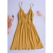 Falda sin tirantes sujetador amarillo