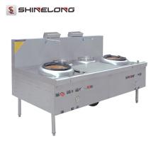 K400 Kitchen Equipment Warmers And 2 Burners Gas Wok Range