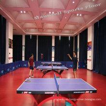 Suelo deportivo de PVC para tenis de mesa