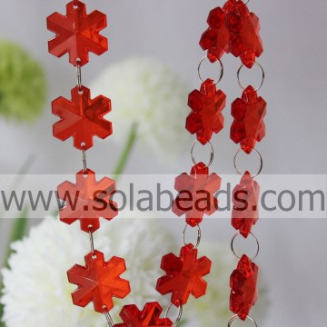 The Idea of 11*28*28MM Crystal Plastic Bead Curtain Trim