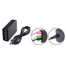 5 Usb Charger Eu / Us / Uk Plug