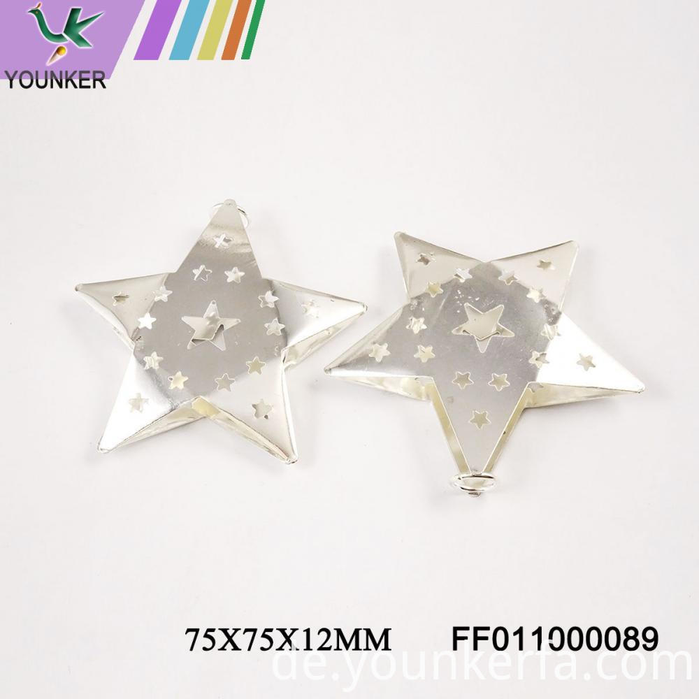 Silver Led String Star Shape Ornaments