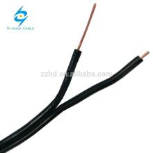 2 núcleo 0.8mm telefone ao ar livre fabricante de fio de queda de cabo