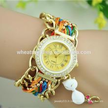 CBRL prix d'usine exw coloré dernière main montre pour fille