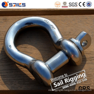 Us Standard High Polished Stainless Screw Pin Anchor Shackle