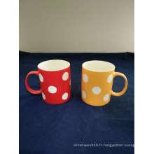 Big DOT Decal nouvelle tasse de café en porcelaine