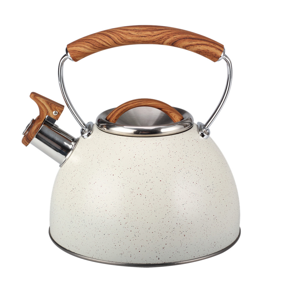 Painting White Whistling Kettle