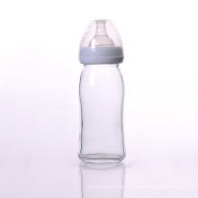 BPA Free Glas Babyflasche mit Silikon Nippel