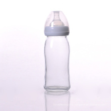 BPA Free Glass Baby Bottle with Silicone Nipple