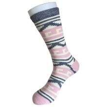 Media almohadilla de algodón de moda logotipo deportivo rosa calcetines (jmc08)
