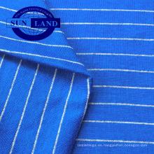 ropa de punto jersey tejido de trabajo traje de primavera verano diario desgaste camiseta de algodón tela antiestática de rayas
