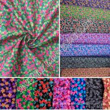 Vente Stock 100% Polyester Imprimé Microfibre Tissu 55GSM Largeur 150cm pour Hometextile