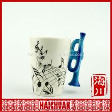 Europa trompete keramik kaffeetasse fabrikgroßverkauf