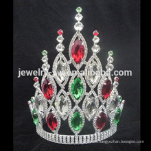 Venta al por mayor grande AB corona de cristal triángulo de la tiara para las mujeres