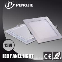 Panneau lumineux carré en aluminium de moulage mécanique sous pression 15W