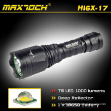 Maxtoch HI6X-17 18650 Li-ion Battery Rechargeable Deep Reflector 1000LM XML T6 LED Cree Torch