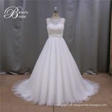 A linha de vestido de casamento feito sob encomenda de China