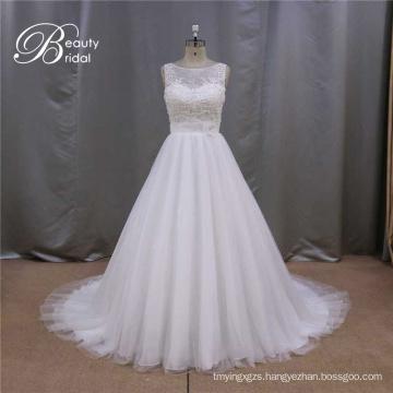 Wedding Dress with Flowers on The Waist Bridal Dress