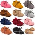 Zapatos infantiles para bebés Unisex Prewalker Soft Sole Moccasins