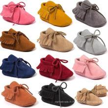 Infant Toddler Shoes Bébé unisexe Prewalker Soft Sole Mocassins