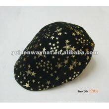 O boné de golfe popular personalizado apresenta tampas de hélice para impressão de estrelas para bonés de beanie