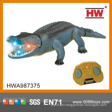Novo design quente venda 48cm 2ch crocodilo controle remoto infravermelho com luz e som