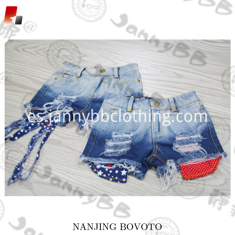 4th of July denim shorts