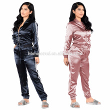 ladies velour leisure suits pink jogging sweater suits 2017