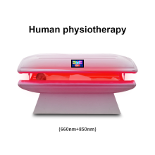 Anti aging red led light therapy bed / infrared sauna body slimming phototherapy canopy bed