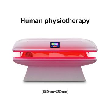 Антивозрастная красная светодиодная кровать для светотерапии / инфракрасная сауна для похудения, кровать для фототерапии для похудения