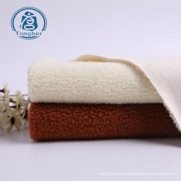 tecido de pele sintética com camurça e lã sherpa