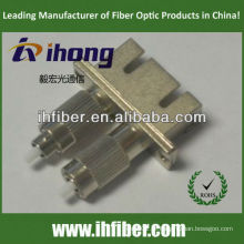 Adaptador de fibra duplex SC fêmea FC macho