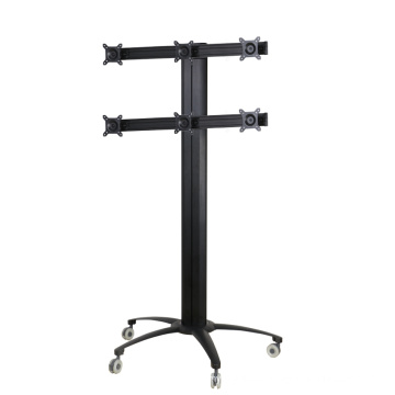 """Public TV Floor Stand 6-Monitor 10-24"""" (AVD 006A)"""