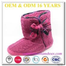 New fashion ladies suede sole winter slipper boots