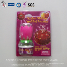Flower Music Birthday Candle with Sparkling Fountain
