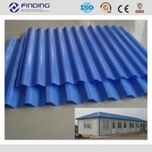 haute qualité couleur galvanisé enduit aluminium acier tuile revêtement panneau
