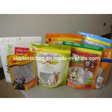 Китай Фабричный оптовый пластиковый мешок для пищевых продуктов для животных (L001)