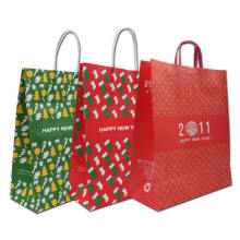 Colorful Kraft Paper Gift Promotional Shopping Bag