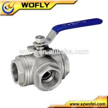 China fabricante fornecer ss316 / ss304 válvula de esfera manual