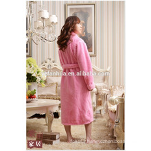 Foot Length Honeycomb jacquard Women Bathrobe With Long Sleeves