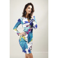 Summer sexy V-neck package hip tuxed evening dress long-sleeved nightclub dress wholesale