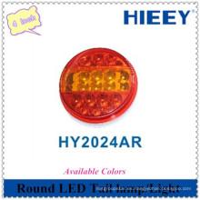 Luz redonda LED de alta calidad 4 pulgadas de cola LED lámpara cola trasera combinación de cola para uso camión