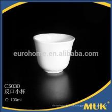 2015 acciones de cerámica de venta de líneas aéreas concesional de porcelana blanca pequeña taza