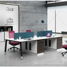 Melamine Open 4 Person Office Cubicle Workstation
