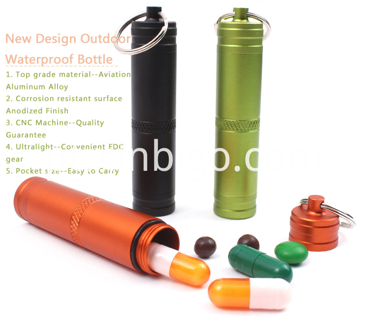 Small Waterproof Pill Bottle