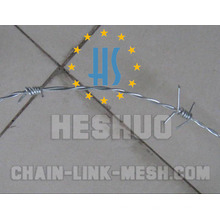 500 Meters 1.8mm Barbed Wire with Galvanized or PVC Coated