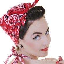 Custom Made Elegant Classic Paisley Pattern Printed Headwrap Bandanna