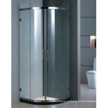 Top venda de vidro temperado de alumínio caixa de chuveiro quadro de banho (H001D)