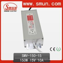 Fuente de alimentación de la prenda impermeable del conductor IP67 de 150W 15VDC 10A LED